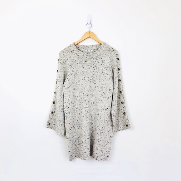 858450cf794 Madewell Dresses   Skirts - Madewell Donegal Button Sleeve Sweater Dress